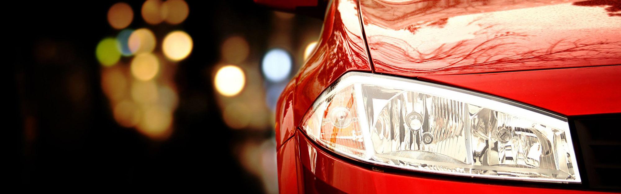 Red Mustang Headlight