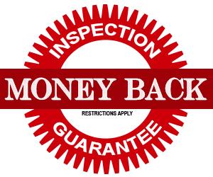 Logo for Inspection Money Back Satisfaction Guarantee